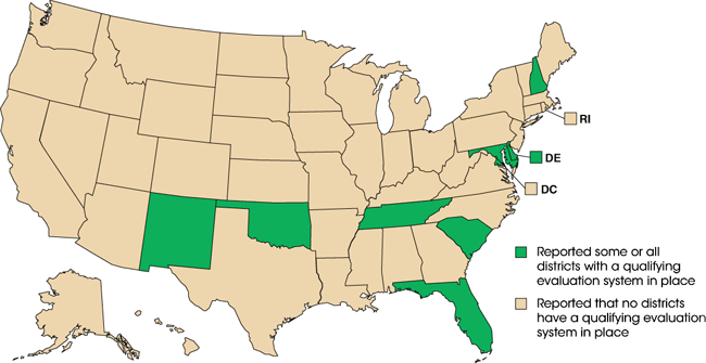Comparison Map - States selected (DE, FL, MD, NH, NM, OK, SC, TN)